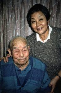 Nishikubo-san and his daughter in Hiroshima in 1987 (Author's photo)