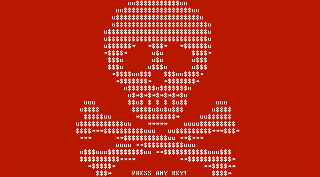A screenshot of the Petya ransomware.