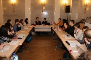 Debate conference at Smolny College, 2018. Photo credit: Bard College. Used with permission.
