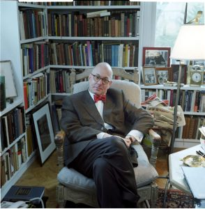 Leon Botstein at his home on the Bard campus in Annandale-on-Hudson, New York. Botstein is the president of Bard College, co-founder of Smolny College in Russia, and music director and principal conductor of the American Symphony Orchestra. Photo credit: Steve Pyke. Used with permission.