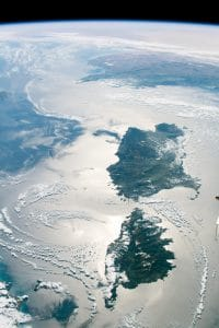 satellite view of Corsica