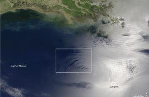 Oil slick Gulf of Mexico