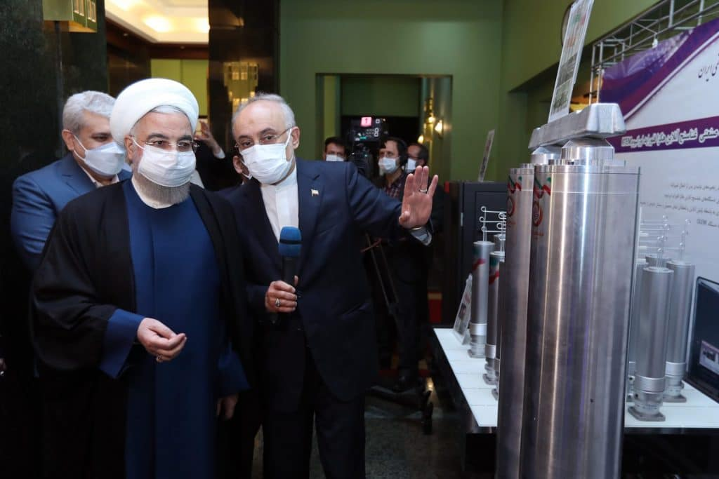 Iranian President Rouhani in April visiting the exhibition of nuclear achievements. Credit: Official website of the President of the Islamic Republic of Iran. https://president.ir/en/120598.