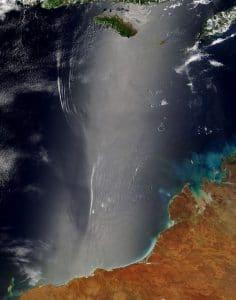 satellite view Shark Bay Australia