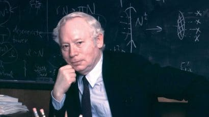 Physicist Steven Weinberg, January 28, 2008. Credit: Larry Murphy, The University of Texas at Austin. Used with permission.