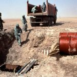 leaking 122mm rockets in Iraq, containing chemical nerve agent