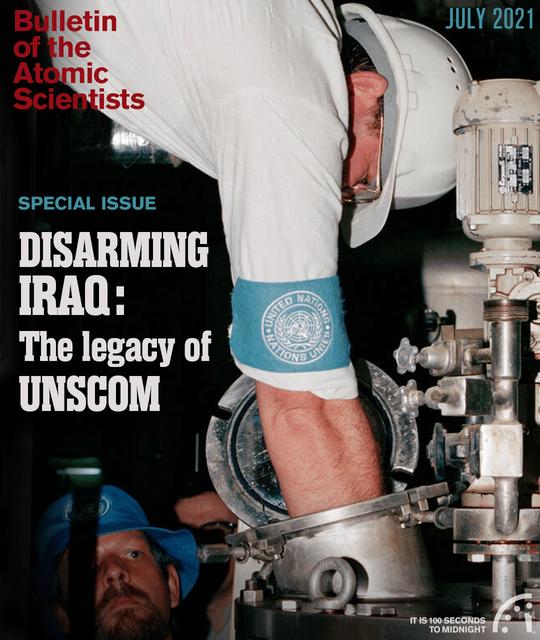 UNSCOM bioweapons inspectors at a facility in Iraq, October 1991.<br />(UN photo; cover by Thomas Gaulkin)