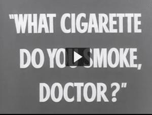 TV ads for cigarettes