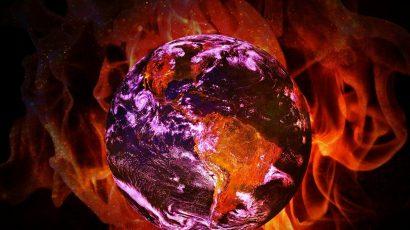 Earth on fire photo illustration