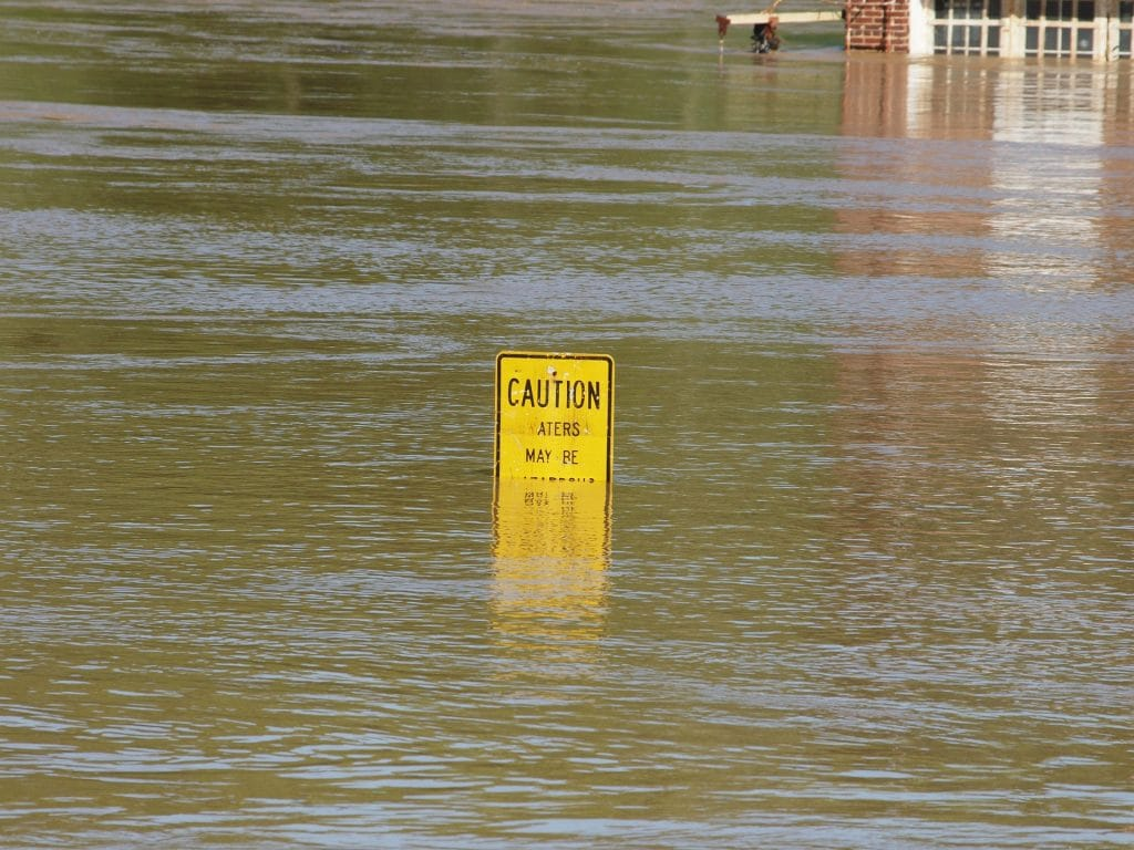 flood water sign