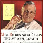 1950s tobacco ad in magazine