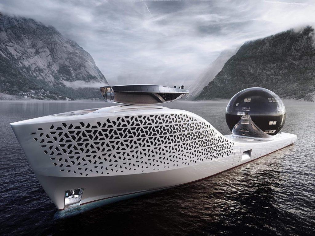 Design for a 300-meter-long superyacht