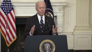 Biden gives a specch.