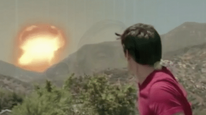 A scene from a Ventura County, California public service video on preparing for and responding to a nuclear terrorism event.