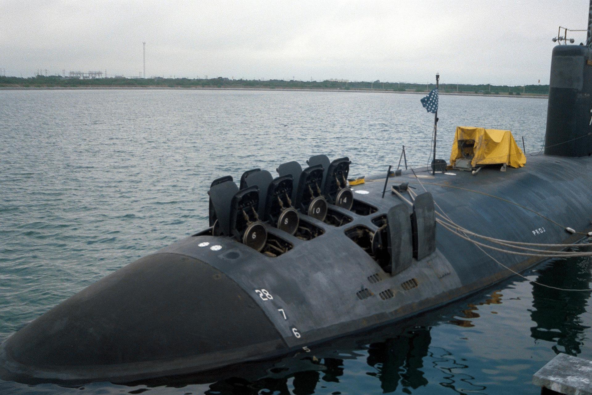 A US nuclear-powered submarine.