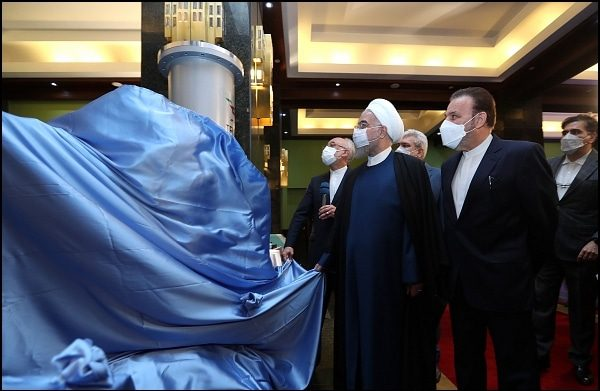 Iranian President Rouhani visiting the exhibition of nuclear achievements. Credit: Official website of the President of the Islamic Republic of Iran. https://president.ir/en/120598