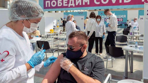 COVID-19 vaccination in Moscow.