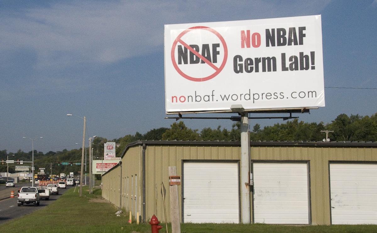 NBAF billboard Photo courtesy of Tom Manney