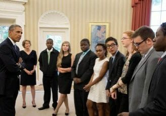 U.S. President Barack Obama Meets with Urban Debate National Tournament Champions