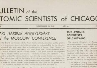 The first issue of the Bulletin of the Atomic Scientists