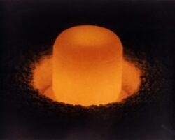 Plutonium pellet. US Energy Department public domain image via Wikimedia Commons.