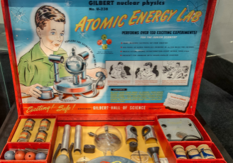 The Gilbert U-238 Atomic Energy Lab is a toy lab set that was produced by Alfred Carlton Gilbert in 1950.