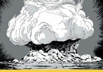 The cover of 'Trinity: A Graphic History of the First Atomic Bomb,' a graphic novel by Jonathan Fetter-Vorm.