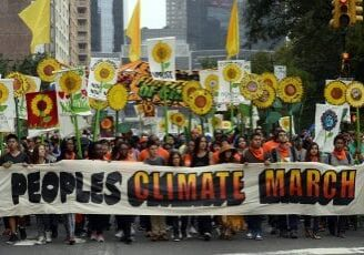 People's Climate March in New York City, 2014