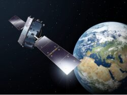 Artist's conception of Galileo satellite in orbit in 2021. Image courtesy of European Space Agency